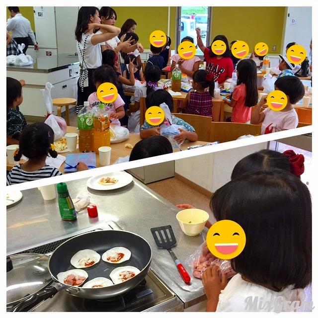 演奏後は班に分かれてピザ作りをしました! 上手に焼けました♪美味しかったね。
